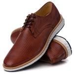 Sapato Masculino Derby Elite Trice em Couro Legítimo Havana