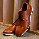 Sapato Masculino Derby em Couro Legítimo Castor