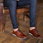 Sapato Masculino Derby em Couro Legítimo Havana