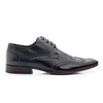 Sapato Casual Masculino Oxford Solado em Borracha Luxo Total Black