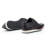 Sapato Casual Masculino Oxford Solado em Borracha Luxo Preto