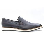 Sapato Casual Masculino Clássico Solado em Borracha Marinho Tiguan