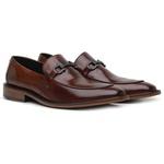 Sapato Loafer Casual Premium em Couro Legítimo Café
