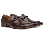 Sapato Loafer Casual Premium em Couro Legítimo Mouro Marrom