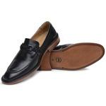 Sapato Loafer Casual Premium em Couro Legítimo Preto