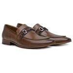 Sapato Loafer Casual Premium em Couro Caramelo Liso