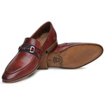 Sapato Loafer Casual Premium em Couro Mouro havana