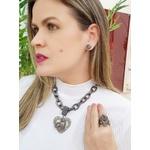 Anel com Strass Black Diamond Luxo