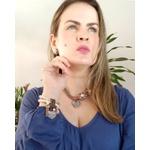 PULSEIRISMO VINTAGE COM PEROLAS E CORAÇÃO 13346