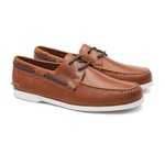 Deckshoes JERRY Caramelo Pull Up - Docksides Masculino Samello