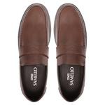 Mocassim s/b SOUL Look Brown- Sapato Masculino Loafer Samello
