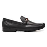 Mocassim S/B COMPASS Comfort Preto- Sapato Masculino Loafer Samello