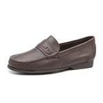 Mocassim s/b SHELTON Floater Café - Sapato Masculino Loafer Samello