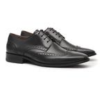 Social s/c ROVER Preto - Sapato Masculino Derby Samello