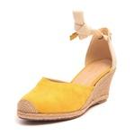 Sandália Feminina Sued Yellow Samello
