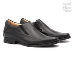 Elevator Comfort Gel S/B COLUMBRES Preto - Sapato Social Masculino Loafer Samello