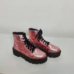 Coturno rosê metalizado