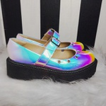 Sapato Boneca Holográfico Laser