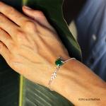 Pulseira Em Prata 925 Com Jade Malásia Redonda - Farol Arruda | Coleção Tribus