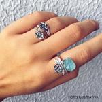 Anel Fridinha Pedra Bruta | Coleção Flora