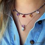 Colar Shine Safira e Rubelita | Novidades