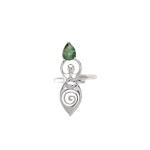 Anel Deusa Turmalina Verde | Coleção Guta Virtuoso