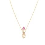 Colar Deusa Gota Turmalina Rosa Bicolor | Coleção Guta Virtuoso