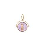 Pingente Medalha Pequena Deusa Dourado | Coleção Guta Virtuoso