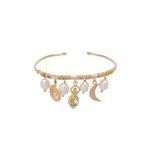 Bracelete Balangandãs Dourado | Coleção Guta Virtuoso