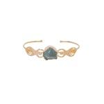 Bracelete Irmãs Água Marinha Dourado | Coleção Guta Virtuoso