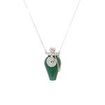 Difusor Anca Prata Quartzo Verde | Coleção Guta Virtuoso