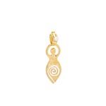 Pingente Deusa G com Pérola Dourado | Coleção Guta Virtuoso