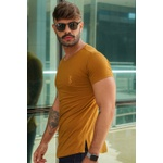 T-shirt Long Basic Ocher