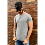 T-shirt Confort Henley Grey