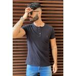 T-shirt Confort Henley Black