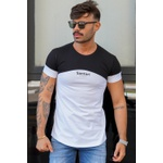 T-shirt Long Beirute Black/White