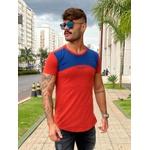 T-Shirt Long Beirute Red/Blue