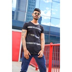 T-shirt Long Black Style