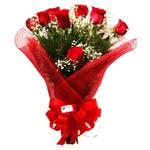 Buquê Delicado Na Tela 12 Rosas