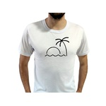 Camiseta T-Shirt Masculina Beach Branca