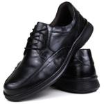 Sapato Social em Couro Floater Preto e Palmilha Gel 3252 -FRC