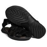Sandália Deck masculino em couro preta 6500