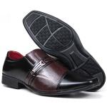 Sapato Social Altar Diamante Preto/Vinho Verniz 815v - FRC