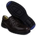 Sapato Social em Couro Floater Café Forrado Com Couro e Palmilha Gel 3050 -FRC