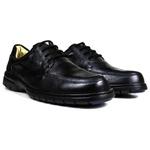 Sapato Social em Couro Floater Preto Forrado Com Couro e Palmilha Gel 3050 -FRC