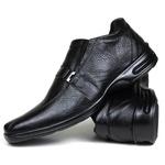 Sapato Social em Couro Floater Preto 755-FRC