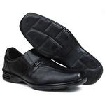 Sapato Social em Couro Floater Preto 871-FRC