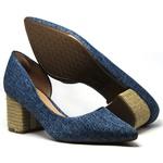 Scarpin Mariotta Jeans Salto Quadrado 13631-30rp
