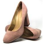 Scarpin Mariotta Nobuck rose Boneca 13990-01