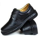 Sapato Social Focal Flex confort em Couro Preto 71209rp